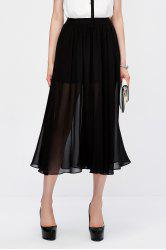 Pleated Sheer Skirt -