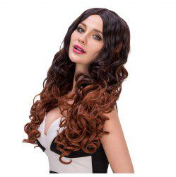 Stylish Long Curly Middle Part Mixed Color Women's Synthetic Hair Wig