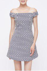 Off The Shoulder Zip Zig Dress -