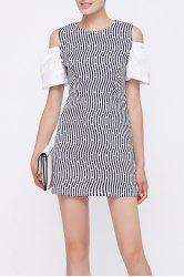 Striped Cut Out Dress -
