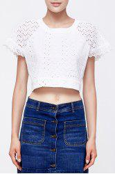 White Short Cut Out T-Shirt -