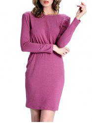Chic Surplice Back Elastic Waist Women's Dress