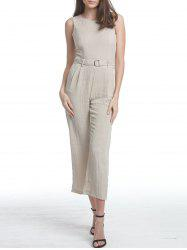 Premium Texture Jumpsuit with D-Ring Detail