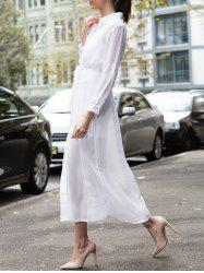Long Sleeve Maxi Shirt Swing Dress
