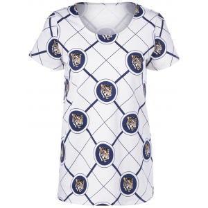 Casual Short Sleeves Round Neck Animal Printing T-Shirt For Women