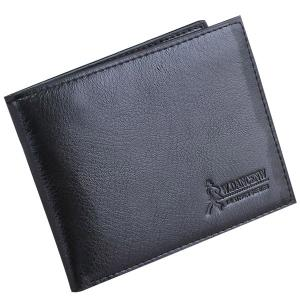 Bi-fold Slim Money Clip Wallet - Black