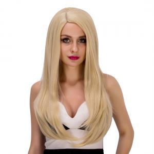 Graceful Long Tail Adduction Platinum Side Parting Women's Synthetic Hair Wig -