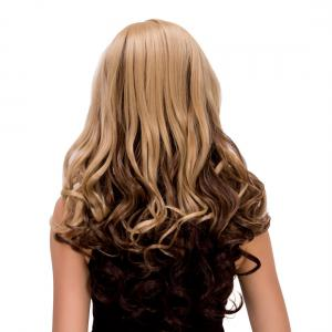 Exquisite Long Wavy Side Parting Omber Color Women's Synthetic Hair Wig -