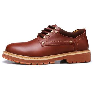 Round Toe Lace Up Vintage Casual Shoes -