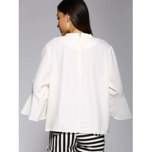 Trendy Solid Color Flare manches ample Blouse -