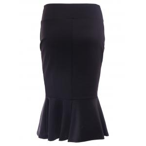 Graceful Solid Color Bodycon Women's Fishtail Skirt -