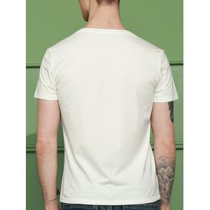 Brief Style Pure Color Round Neck Short Sleeve T-Shirt For Men -