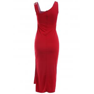 Rhinestoned Slit Bodycon Prom Party Dress - WINE RED ONE SIZE(FIT SIZE XS TO M)