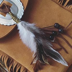 Fashionable Magnetic Closure and Feather Design Crossbody Bag For Women -