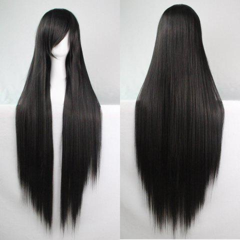 Sale Charming Long Glossy Straight Side Bang Harajuku Anime Synthetic Cosplay Wig