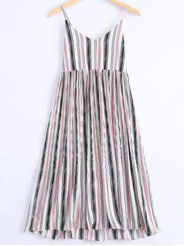 New Stylish Spaghetti Strap Striped Dress For Women