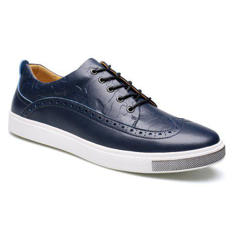 Trendy Fashion Engraving and Lace-Up Design Casual Shoes For Men