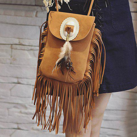 Store Fashionable Magnetic Closure and Feather Design Crossbody Bag For Women