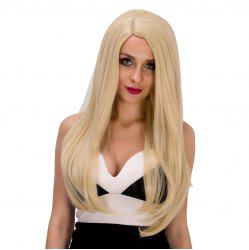 Graceful Long Tail Adduction Platinum Side Parting Women's Synthetic Hair Wig