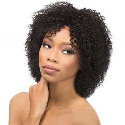 Vogue Medium Black Afro Curly Women's Synthetic Hair Wig
