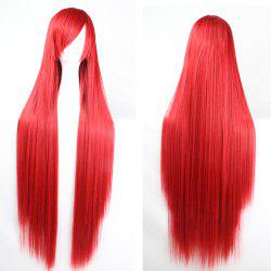 Charming Long Glossy Straight Side Bang Harajuku Anime Synthetic Cosplay Wig