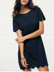 Casual Round Neck Short Sleeve Women's Dress -