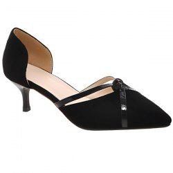 Graceful Two-Piece and Suede Design Pumps For Women