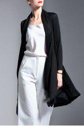 Collarless Solid Color Folded Blouse