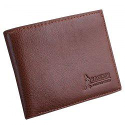 Bi-fold Slim Money Clip Wallet - LIGHT BROWN