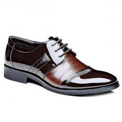Fashion Patent Leather and Lace-Up Design Formal Shoes For Men -