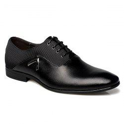Fashion Splicing and Lace-Up Design Formal Shoes For Men -