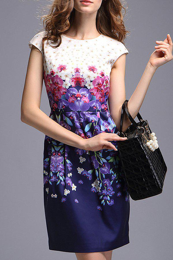 Affordable Elegant Style Flower Print Dress