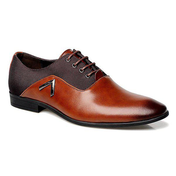 Outfit Fashion Splicing and Lace-Up Design Formal Shoes For Men