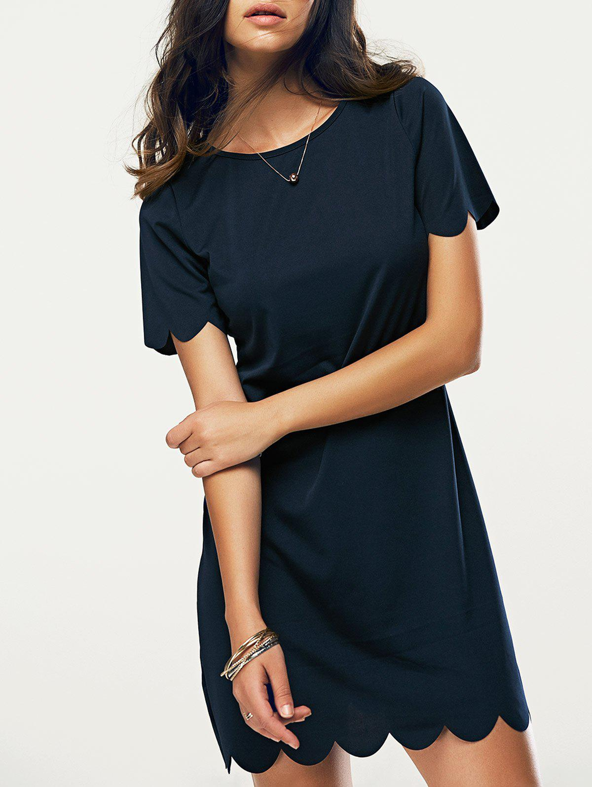 Shops Casual Round Neck Short Sleeve Women's Dress