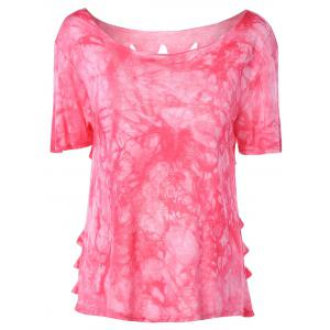 Stylish RoundNeck Tie-Dyed Short Sleeves Top For Women