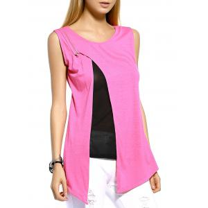 Layered Split Front Casual Tank Top