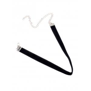 Velvet Adjustable Alloy Chokers Necklace
