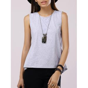 Split Back Casual Tank Top