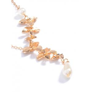 Orchids Faux Pearl Necklace -