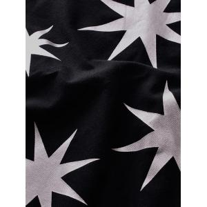Round Neck Stars Printing Short SleeveT-Shirt For Men -