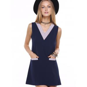 The Cute Look Front Pocket Striped Dress -