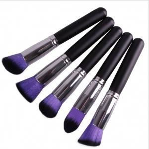 Stylish 5 Pcs Nylon Powder Brush Different Shape Facial Makeup Brush Set