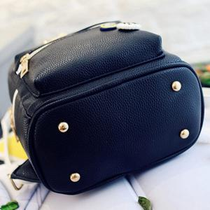 Trendy Zippers and Bow Design Backpack For Women -