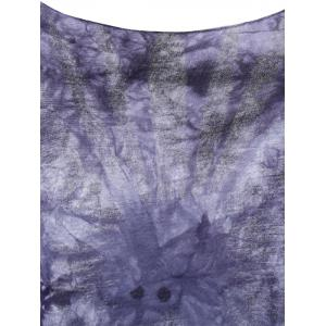 Stylish Round Neck Tie-Dyed Short Sleeves Top For Women -