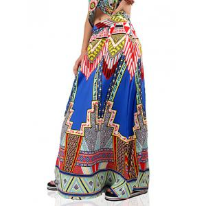 Ethnic High Waist Geometric Print Skirt For Women -