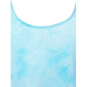 Stylish Backless Tie Dye Spaghetti Strap Top For Women -