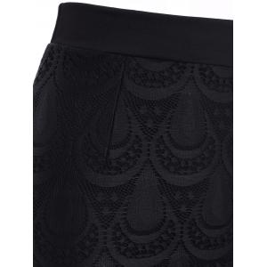 Trendy Elastic Waist Eyelash Lace Fringed Skinny Women's Skirt -