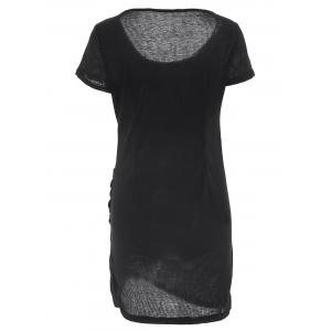 Casual U Neck Short Sleeve Slimming Solid Color Women's Dress -
