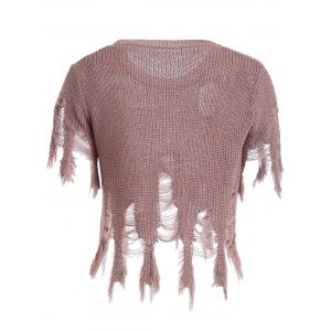 Women's Sequined Hole Design Asymmetric Pullover Sweater -