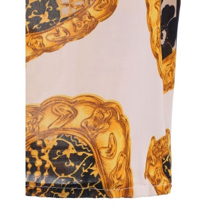 Stunning Gold Printed Blouse For Women -